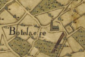 Historische kaart Land van Aalst 1784